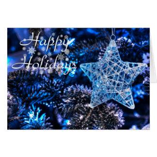 Silver Christmas Star of Bethlehem Ornament Card
