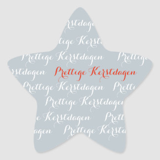 Silver Christmas text pleasant Christmas days Star Sticker