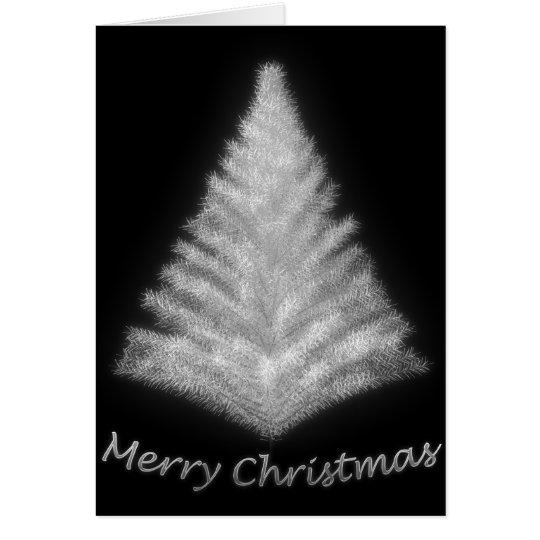 Silver Christmas Tree #2 Card