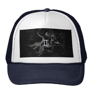 Silver Chrome like Gemini Zodiac Sign on Hevelius Trucker Hat