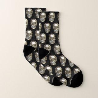 Silver Chrome Skull Socks 1