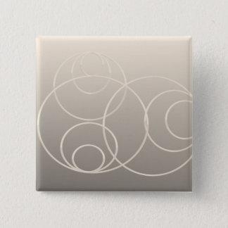 silver circles 2 inch square button
