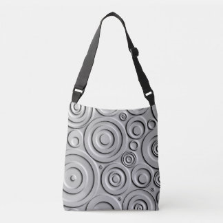 Silver Circles Crossbody Bag