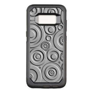 Silver Circles OtterBox Commuter Samsung Galaxy S8 Case