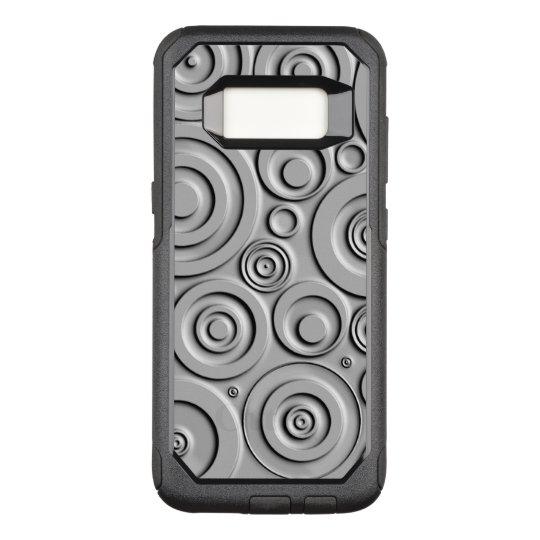 Silver Circles OtterBox Commuter Samsung Galaxy S8 Case