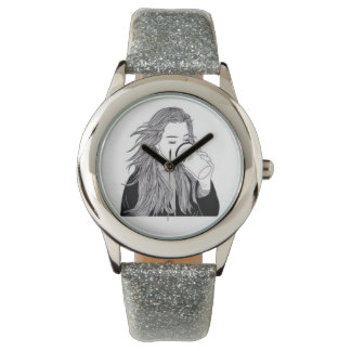 Silver Coffee Wristwatch