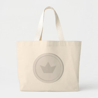 Silver Coin Large Tote Bag
