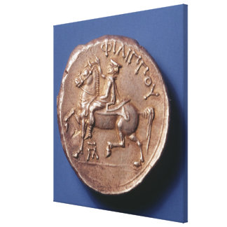 Silver coin of Philip II of Macedon Canvas Print