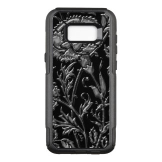 Silver Coloured Floral Pattern OtterBox Commuter Samsung Galaxy S8+ Case