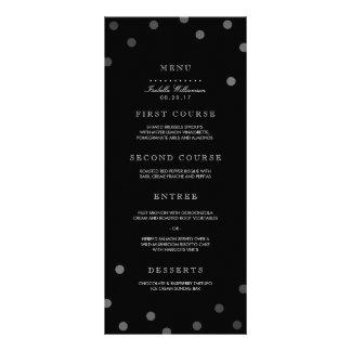 Silver Confetti & Black Surprise Party Menu