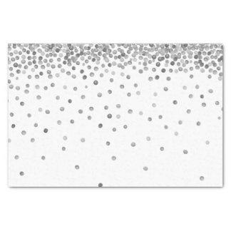 Silver Confetti Dots Tissue Paper