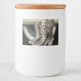 Silver Cowboy boots Food Label