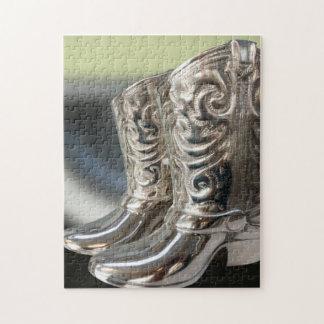 Silver Cowboy boots Puzzle