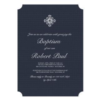 Silver Cross Religious Invitation