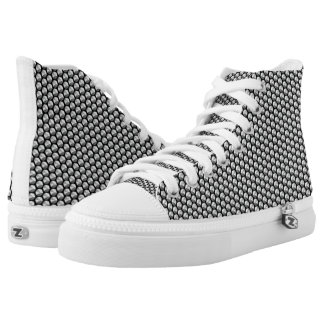 Silver crystal sequins high tops