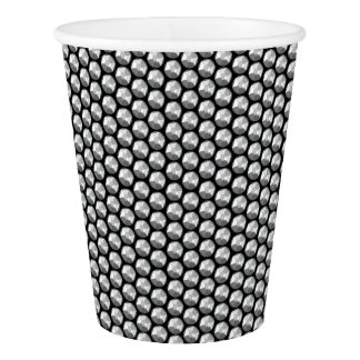 Silver crystal sequins paper cup