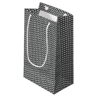 Silver crystal sequins small gift bag