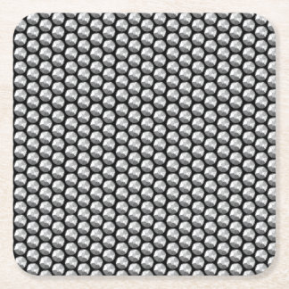 Silver crystal sequins square paper coaster