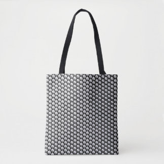 Silver crystal sequins tote bag