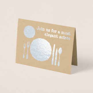 Silver Cutlery Place Setting - Dinner Invitation