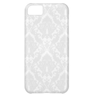 Silver damask iPhone case