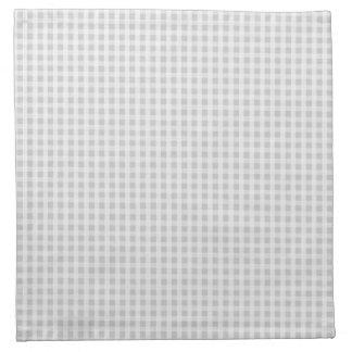 Silver Dandelion Gingham Check Plaid Pattern Cloth Napkin