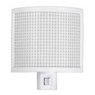 Silver Dandelion Gingham Check Plaid Pattern Night Light