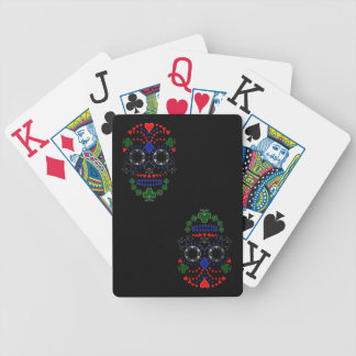 Silver Day of the Dead Poker Skull Cards