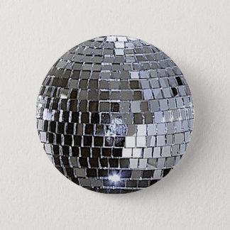 Silver Disco Ball 2 Inch Round Button