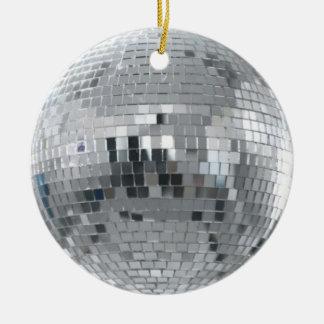 Silver Disco Ball Christmas Ornament