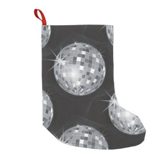 silver disco ball xmas christmas stocking