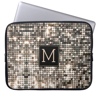 Silver Disco Glitter & Sparkles Laptop Sleeve