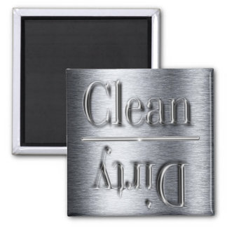 silver dishwasher magnet