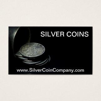 Silver Dollar Coin Business Card Template