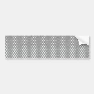 Silver dots on ANY color custom bumpersticker Bumper Sticker