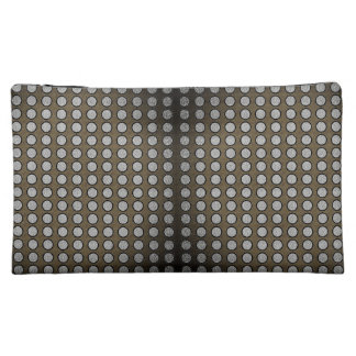 Silver-Dotted-Fog(c) Sueded  & Multi- Style -Bags Makeup Bag