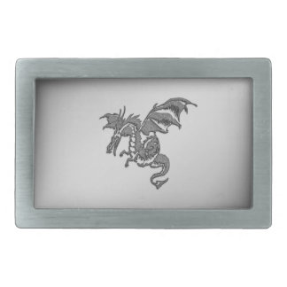 Silver Dragon Belt Buckle