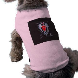Silver Dragon Shield Guardian Pet Tee Shirt