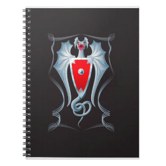 Silver Dragon Shield Guardian Spiral Notebook