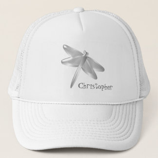 Silver Dragonfly Just Add Name Trucker Hat