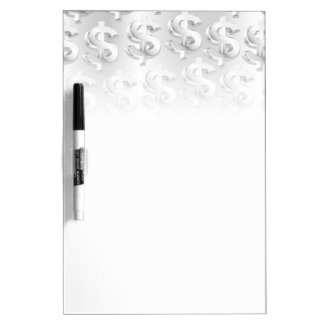 $ Silver $ Dry Erase Board