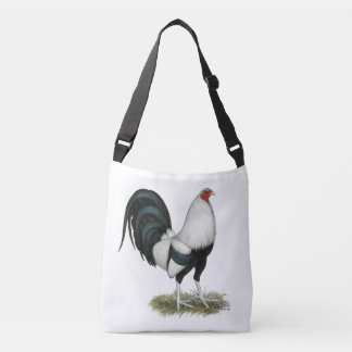 Silver Duckwing Gamecock Crossbody Bag