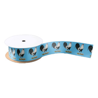 Silver Duckwing Gamecock Satin Ribbon