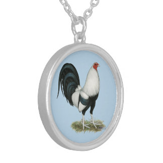 Silver Duckwing Gamecock Silver Plated Necklace