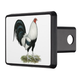 Silver Duckwing Gamecock Trailer Hitch Cover