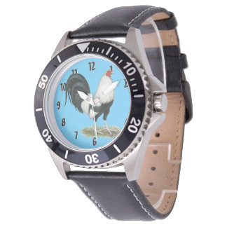 Silver Duckwing Gamecock Watch
