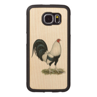 Silver Duckwing Gamecock Wood Phone Case
