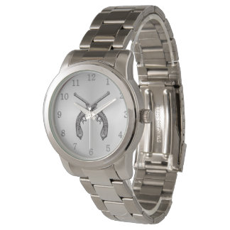 Silver Dueling Pistols Silver Numbers Wrist Watches
