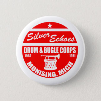Silver Echo Drum and Bugle 2 Inch Round Button