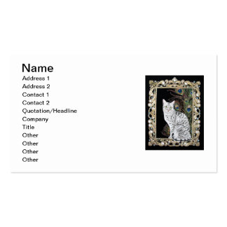 Silver Egyptian Mau Double-Sided Standard Business Cards (Pack Of 100)